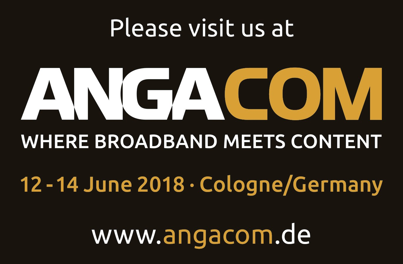 Meet Icotera at ANGA COM 2018